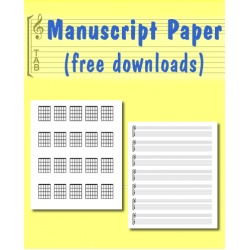 Blank Manuscript Paper and Guitar Chord Charts
